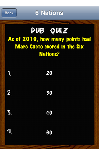 Screenshot iQuiz6Nations